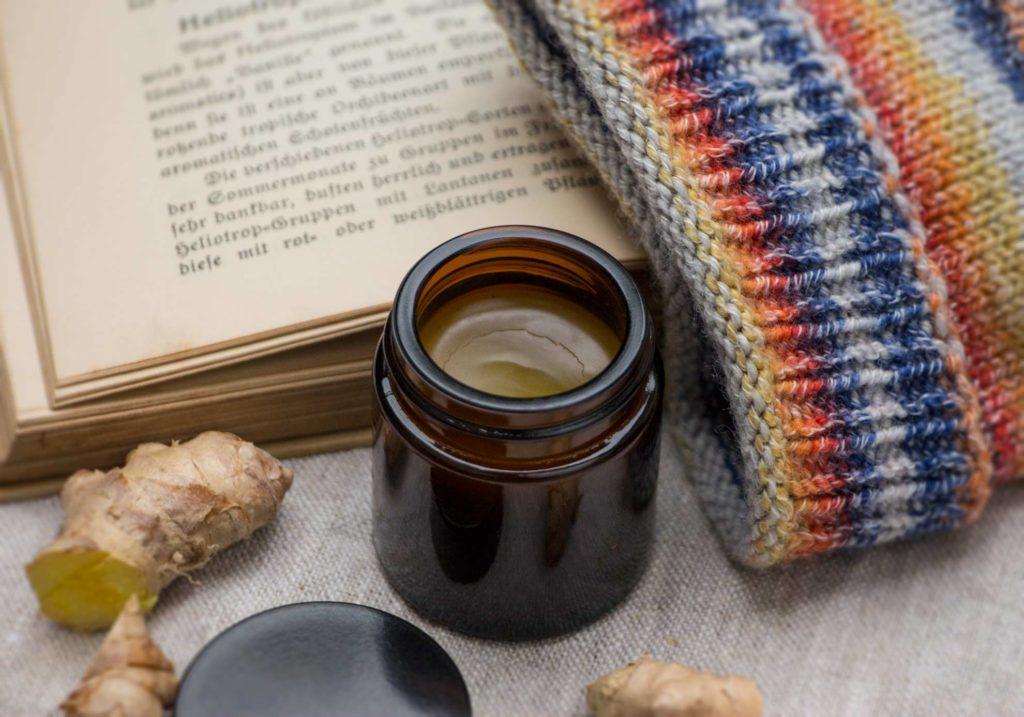 Herbal Hunter – Rezepte – Warme Socken Balsam mit Ingwer