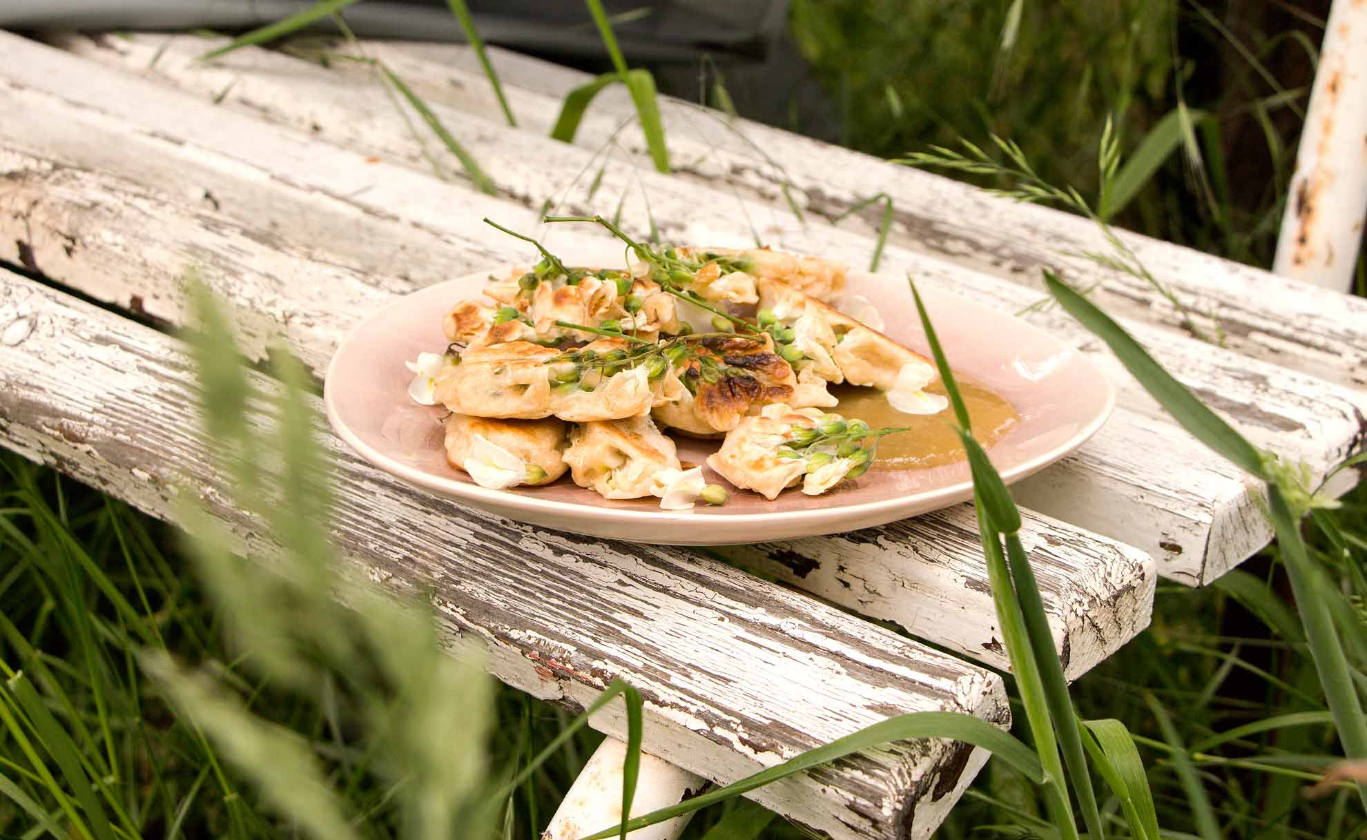 Herbal Hunter Rezept für wilde Baumblüten-Pancakes