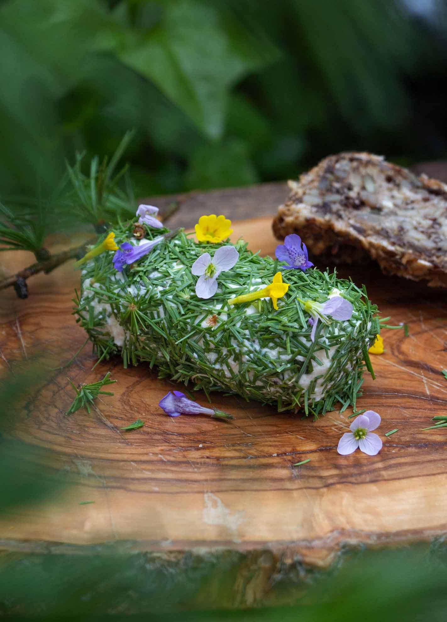 Ich ess' Bäume herbal Hunter Kräuterblog Baumküche Lärchen-Frischkäserolle